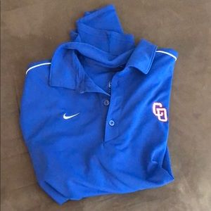 Blue nike dry fit polo